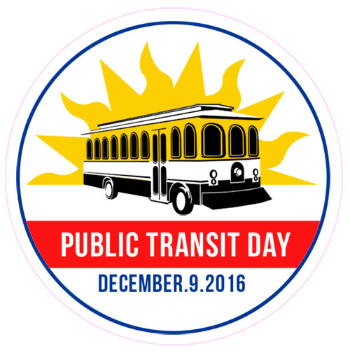 Public Transit Day Sticker
