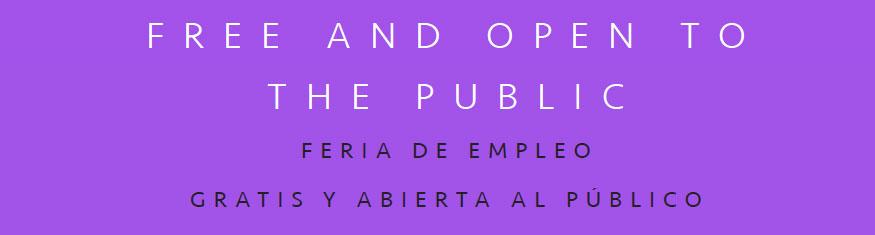 Job Fair open to the public